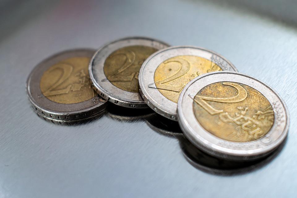 dvojeurové mince
